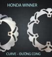 Đĩa thắng trước K-Driven Đường Cong (chính hãng) cho Honda Winner