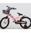 Xe đạp trẻ em gấp 18 inch màu hồng