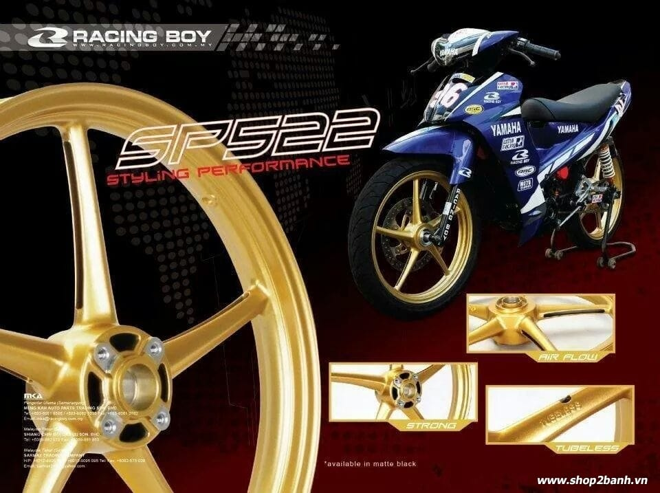 Mâm racingboy 522 chính hãng - 1