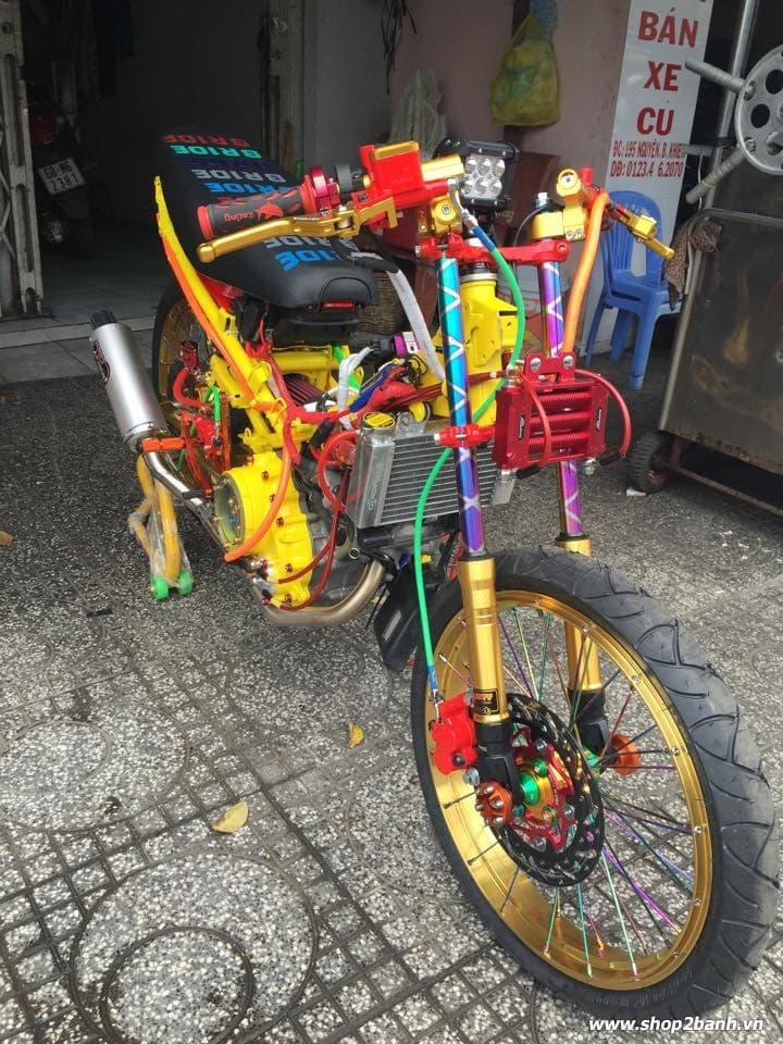 Lên full đồ chơi xe exciter 135 theo phong cách drag - 2