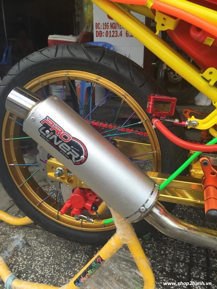 Lên full đồ chơi xe exciter 135 theo phong cách drag - 10