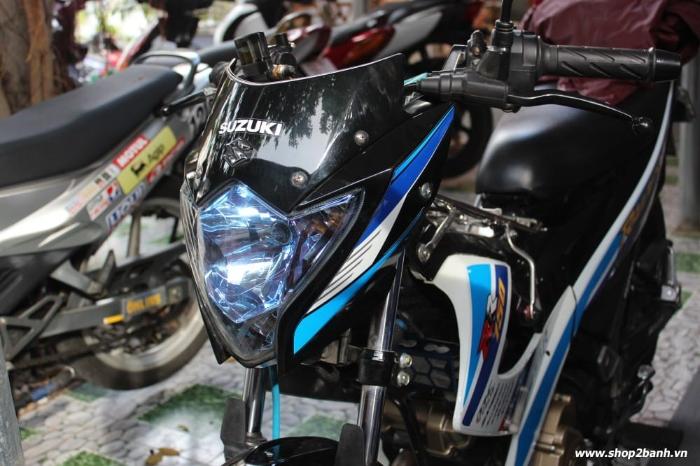Chóa đèn xanh limited satria fu150 raider 150 2013 indo new 100 - 2