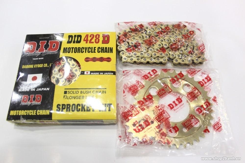Nhông sên dĩa did vàng cho exciter 135 suzuki axelo - 1