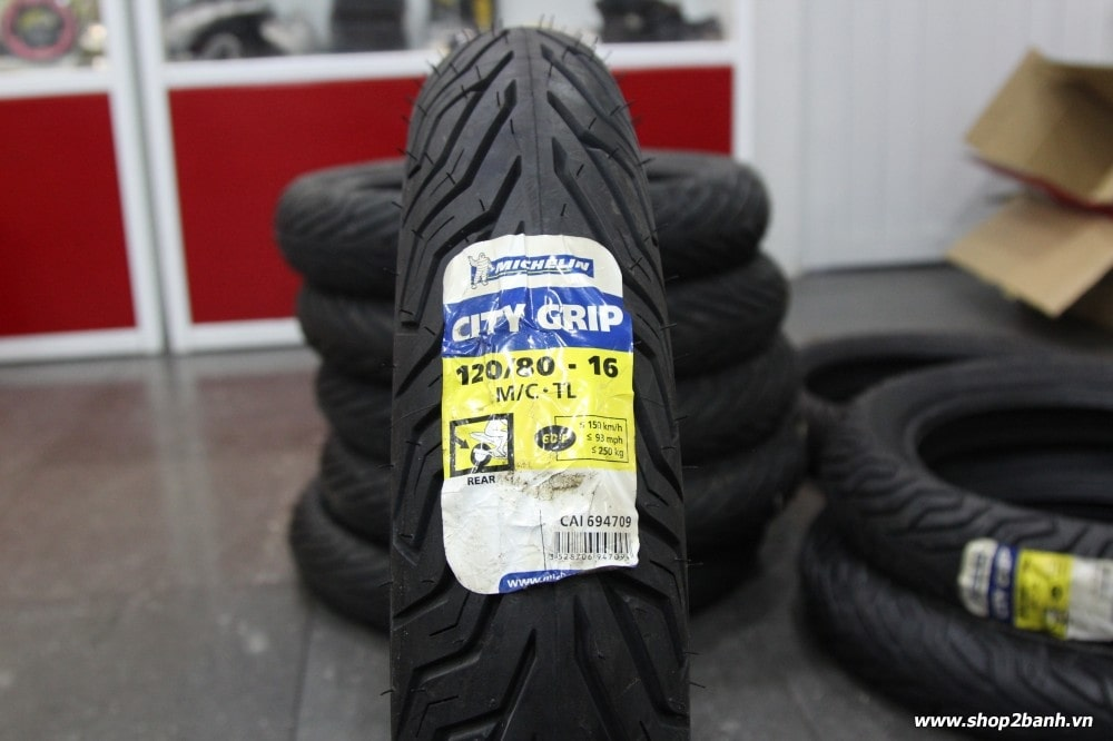 Vỏ michelin city grip 12080-16 - 1