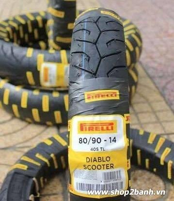 Vỏ pirelli 8090-14 diablo scooter - 1