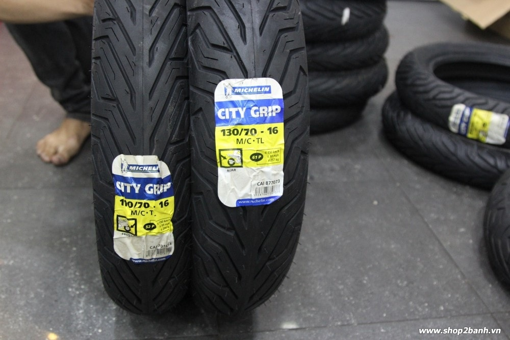 Vỏ michelin city grip 11070-16 và michelin city grip 13070-16 - 1