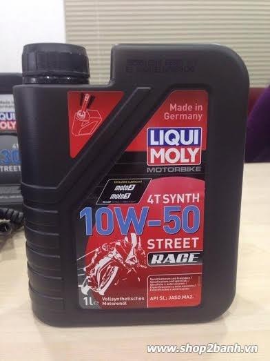 Nhớt liqui moly 4t synth 10w50 - 1