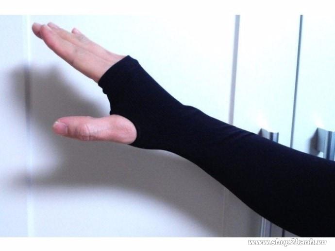 Găng tay chống nắng xỏ ngón hàn quốc - 1