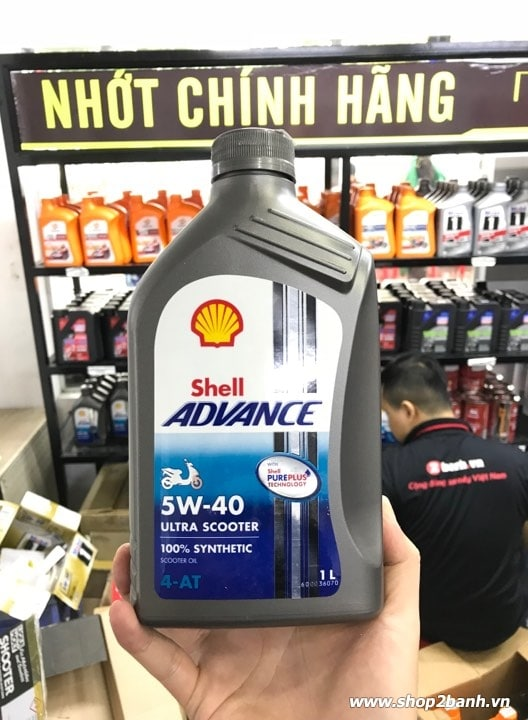 Shell advance ultra scooter 5w40 1l - 3