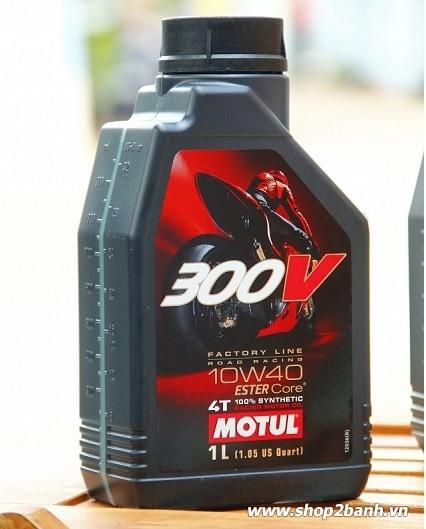 Motul 300v 10w40 1l tem 3 lớp nhập từ pháp - 1
