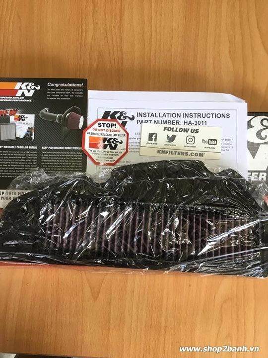 Lọc gió kn ha-1213 chính hãng cho click vario sh mode pcx loại đèn led - 1