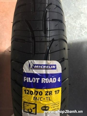 Vỏ michelin pilot road 4 12070zr17 cho phân khối lớn - 1