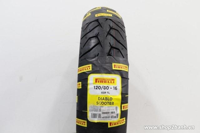 Vỏ pirelli 12080-16 diablo scooter - 1