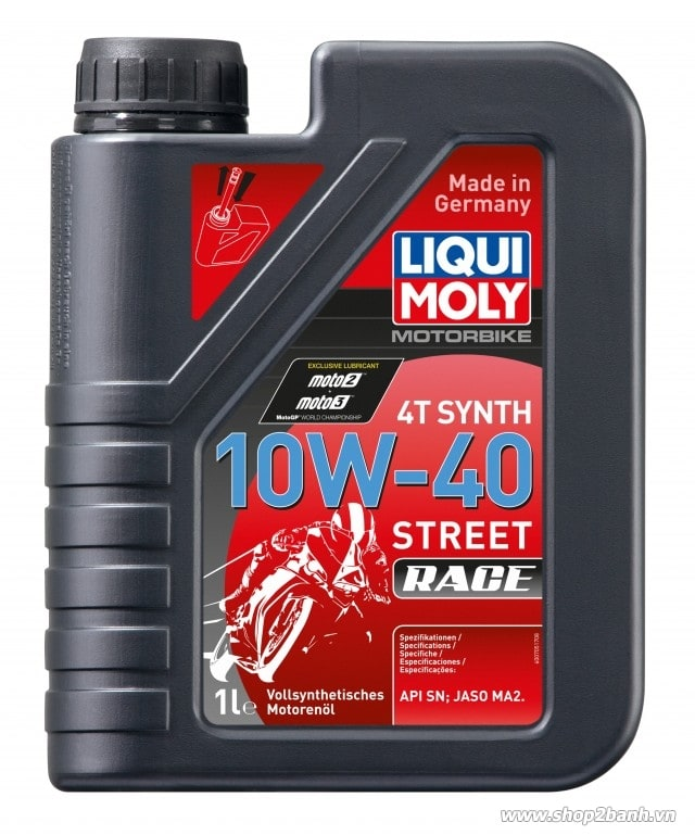Nhớt liqui moly 4t synth 10w40 street race - 1