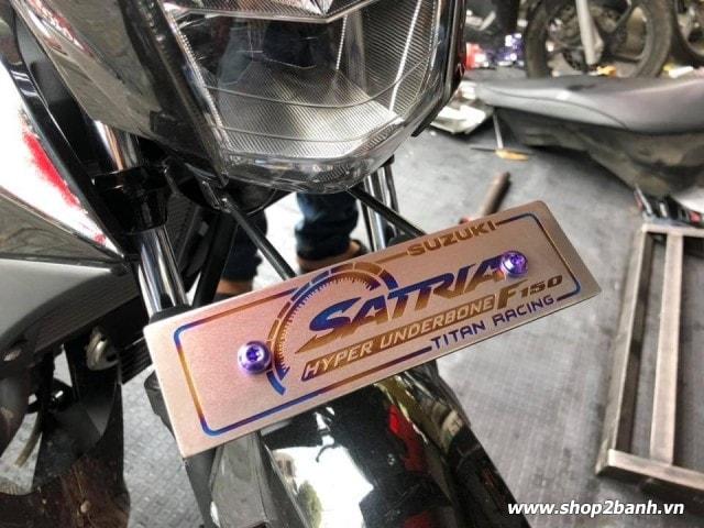 Bảng tên xe titan loại dày cao cấp cho vario click satria sonic - 5