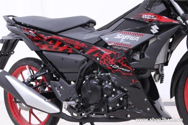 Xe suzuki satria f150 đen mâm đỏ nhập khẩu indo 2019 - 5