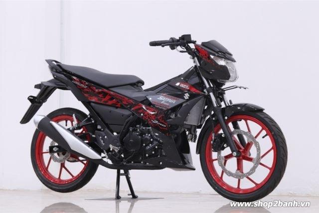 Xe suzuki satria f150 đen mâm đỏ nhập khẩu indo 2019 - 1