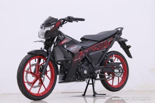 Xe suzuki satria f150 đen mâm đỏ nhập khẩu indo 2019 - 2
