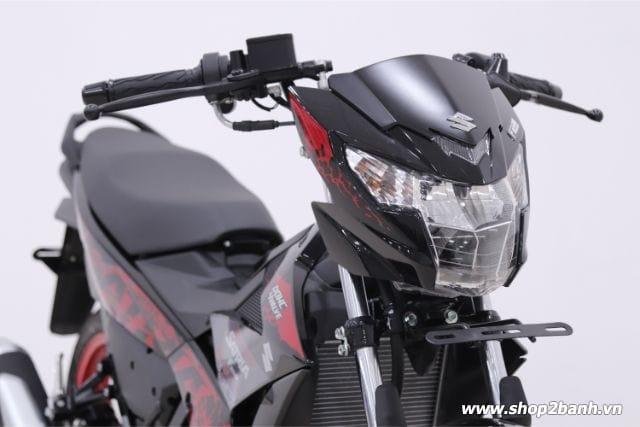 Xe suzuki satria f150 đen mâm đỏ nhập khẩu indo 2019 - 4