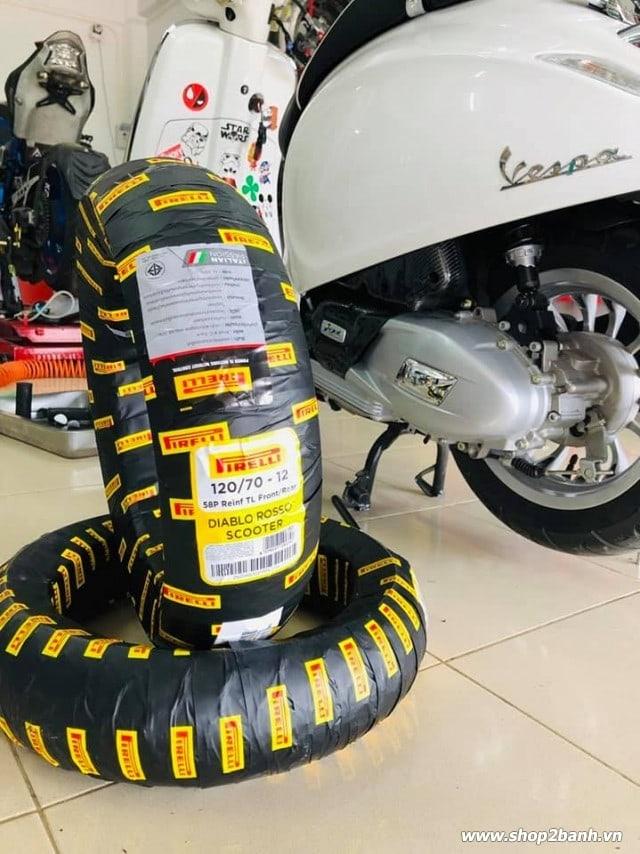 Vỏ pirelli 12070-12 diablo rosso scooter - 1
