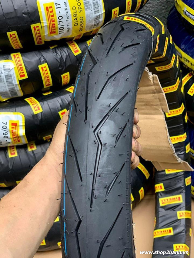Vỏ pirelli 10080-17 diablo rosso sport - 1