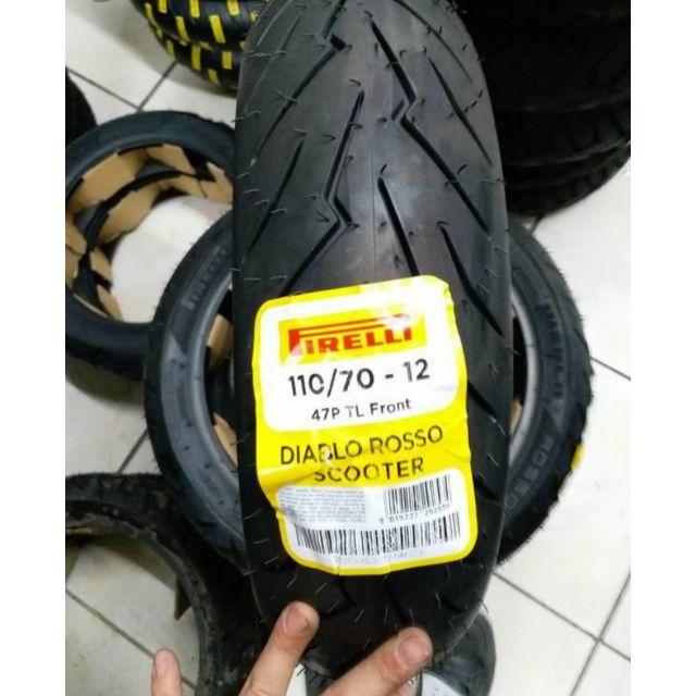 Vỏ pirelli 11070-12 diablo rosso scooter - 1