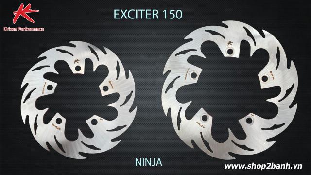 Đĩa thắng sau k-driven ninja chính hãng cho exciter 150 - 1