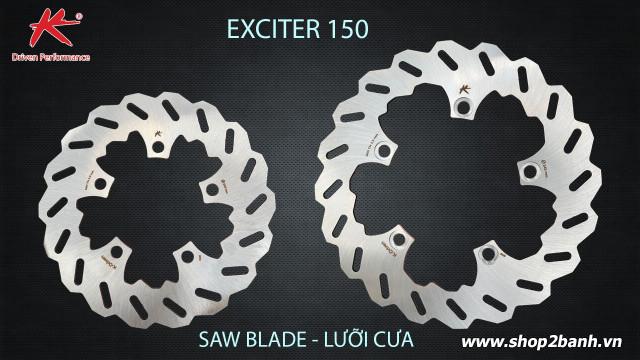 Đĩa thắng trước k-driven lưỡi cưa chính hãng cho exciter 150 - 1