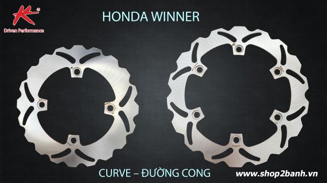Đĩa thắng sau k-driven đường cong chính hãng cho honda winner - 1