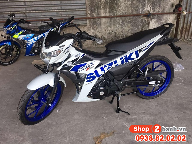 Xe suzuki satria f150 trắng xanh nhập khẩu indo 2020 - 1
