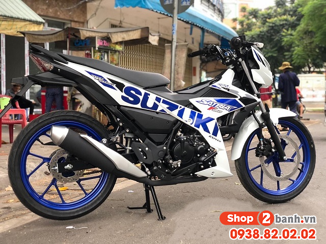 Xe suzuki satria f150 trắng xanh nhập khẩu indo 2020 - 2