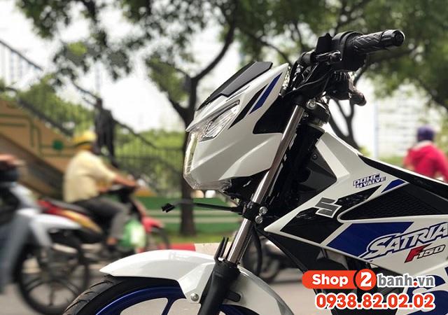 Xe suzuki satria f150 trắng xanh nhập khẩu indo 2020 - 4