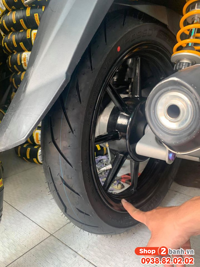 Vỏ pirelli 9090-14 diablo rosso sport - 2