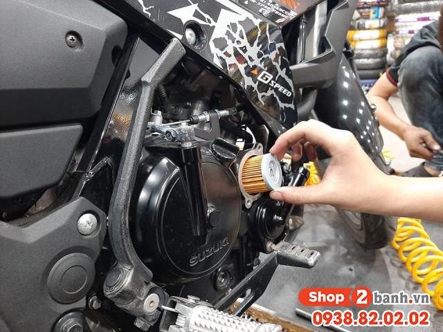 Lọc nhớt chính hãng suzuki raider 150 satria f 150 belang 150 fx 125 viva 110 - 3