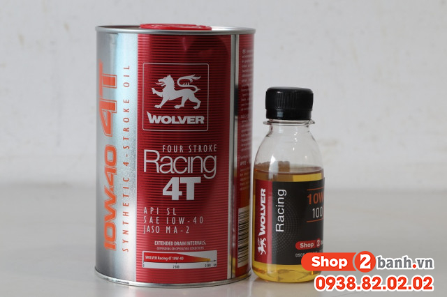 Nhớt chiết lẻ wolver racing synthetic 10w40 100ml - 2