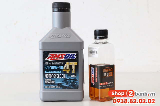 Nhớt chiết lẻ amsoil 10w40 performance 150ml - 2