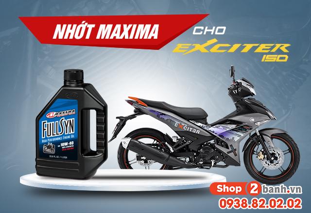 Đánh giá nhớt maxima fullsyn cho exciter 150 - 1