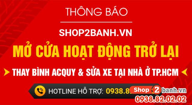 Shop2banhvn - mở cửa hoạt động trở lại - thay bình acquy và sửa xe tại nhà ở tphcm hotline 0938820202 - 1