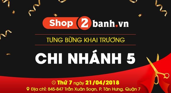 khai truong shop2banh chi nhanh 5