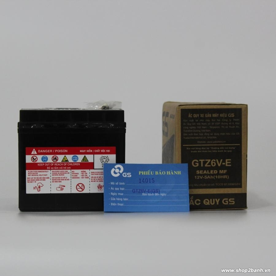 BÌNH ắc quy GS GTZ6V-E