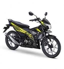 Xe Suzuki Satria F150 vàng đen nhập khẩu Indo 2019