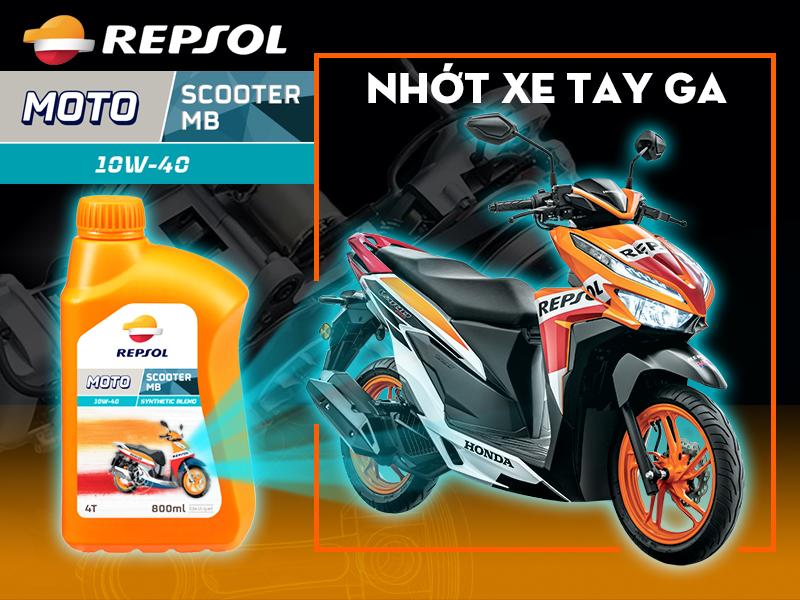 Repsol Moto Scooter MB 10W40 - Dầu nhớt chuyên dụng cho xe tay ga