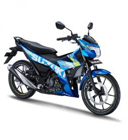 Xe Suzuki Satria F150 xanh GP nhập khẩu Indo 2020