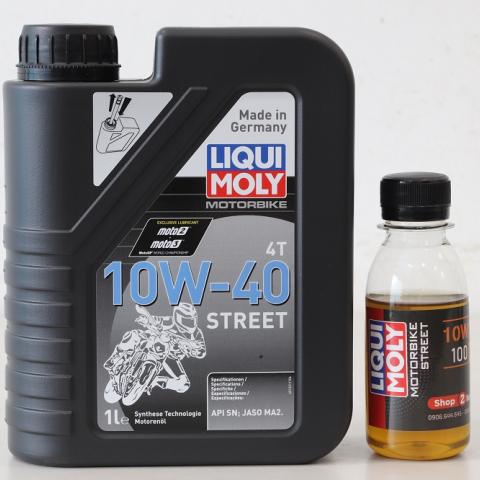 Nhớt chiết lẻ Liqui Moly Motorbike Street 4T 10W40 (100ml)