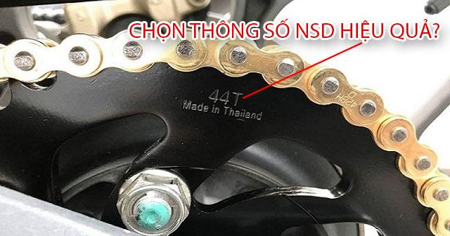Cách chọn nhông sên dĩa phù hợp để xe máy đạt hiệu suất tốt nhất