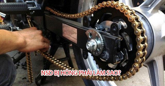 Nhông sên dĩa xe máy hỏng ảnh hưởng gì đến xe?