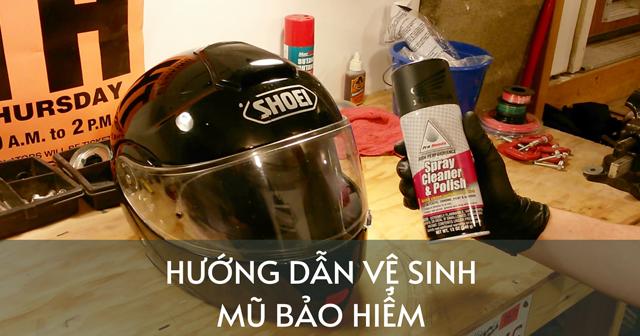 Cách vệ sinh mũ bảo hiểm fullface tại nhà đúng chuẩn