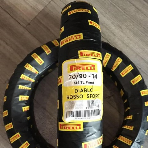 Vỏ Pirelli 70/90-14 Diablo Rosso Sport