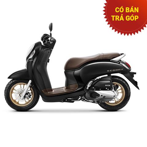 Xe Honda Scoopy Smartkey Đen mâm Đồng 2021 nhập khẩu Indo