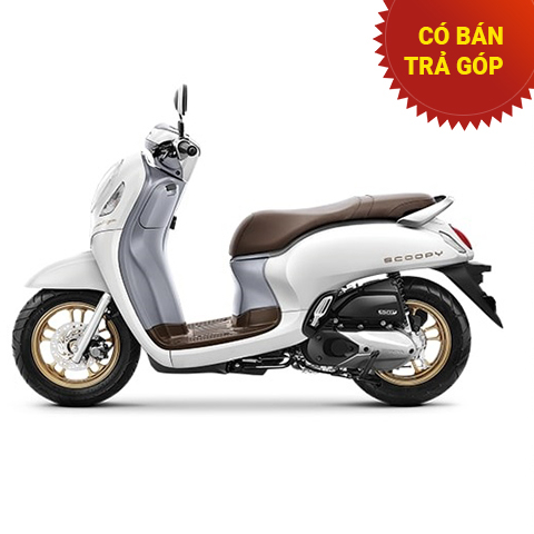 Xe Honda Scoopy Smartkey Trắng mâm Đồng 2021 nhập khẩu Indo